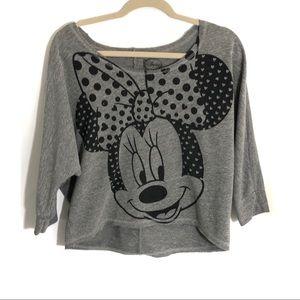 Disney Minnie oversized crop off Shoulder